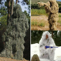 Tactical Camouflage Sniper Ghillie Suit Woodland Desert Snow For Hunting Army