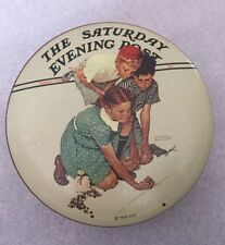 Vintage Norman Rockwell Collectible, Marble Champion Tin - Saturday Evening Post