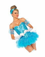 Leg Avenue 85025 5pc.Cinderella, Sequin Corset, Tutu Skirt, Arm Puffs, Choker,