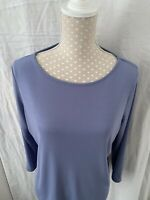 Ladies Laura Ashley Top Pale Blue Size Extra Large 3/4 Length Sleeves Vintage