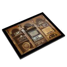 A3 Glass Frame - Old Vintage Radios Transmitter Art Gift #21963