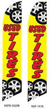 TWO Used Tires 15 foot Swooper Feather Flag Sign