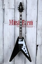 Epiphone Limited Edition Flying V Custom Electric Guitar Ceramic Plus HH Ebony