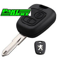 Peugeot 106 206 306 2 Button Key Fob With ID46 Chip Transponder Brand New Parts
