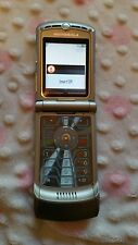 EXCELLENT Motorola RAZR V3 T-Mobile ATT AT&T Slate Flip Gray Razor SHIPS NOW
