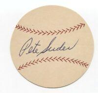 Peter Suder Signed Paper Baseball Autograph Signature Philadelphia Athletics
