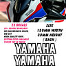 Yamaha Outline Logo Stickers Decals Motorcycle Fairing Panel Belly Pan