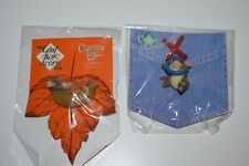 Lot of 2 Charming Tails Pins New On Card Mackenzie Mouse Leaf Acorn Nap Time Hug
