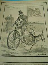 Typo 1890 - Le cycliste esssayant d'échapper au chien