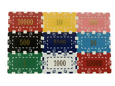 More details for 10 x high quality poker casino numbered plastic chip plaques 74 x 44mm 30grams