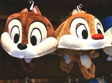Tokyo Disney Resort Chip and Dale Pair set 2 Fan Cap Hat  Headband Plush Japan