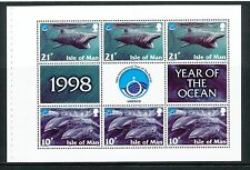 Isle of Man 1998 UNESCO Int Year of the Ocean 10p/21p booklet pane