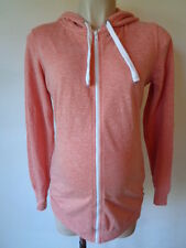 NEW LOOK MATERNITY PINK MARL HOODED ZIP JUMPER CARDIGAN HOODIE SIZE 10