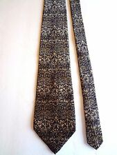 "THE METROPOLITAN MUSEUM OF ART - BLACK/GOLD/OLIVE FLORAL - SILK TIE - 58""L 3 7/8"