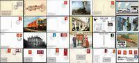 1950-2000 Züge Regionales Tpo Poststempel Postkarten Bezüge Multi Fm .99p