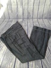 Talbot's Signature Flare Blue Chambray Linen Blend Trouser, SZ 10