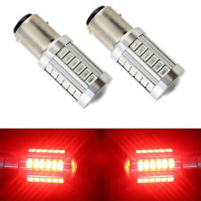 2x 1157 Red Switchback 5630 6500K 33-SMD LED Turn Signal Light Bulbs 6.6W 800LM