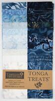 """Timeless Treasures Batik Tonga Treats - Blue Moon - (20) 2.5"""" Fabric Strip"""