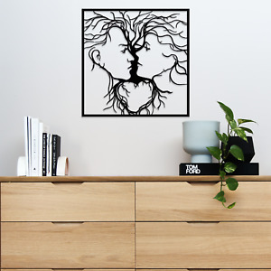 050 Tree of Life Faces Steel Spray Painted Hanging Wall Art Decoration