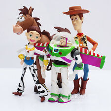New 4PCS Toy Story 2 Woody Jessie Buzz Lightyear Animated Action Figure Toy Doll
