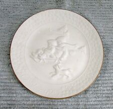 1985 A Child's Christmas White Porcelain Avon Plate Trimmed in 24K Gold Free S/H