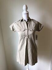 Denim Supply Ralph Lauren Khaki Dress NWT Womens Sz Xs Mini Dress buttons
