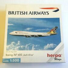 Herpa Wings British Airways Boeing 747-400 South Africa 1:500 Scale 511414