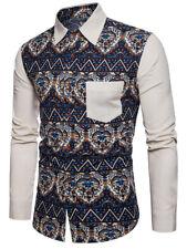 Herren-Hemd Freizeit-Hemd Baumwolle / Leinen Größe XL