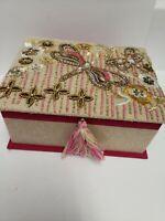 Handcrafted in India Beaded Treasure Chest Trinket Jewelry Organizer Box Storage