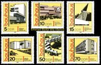 EBS East Germany DDR 1980 - Bauhaus Architecture - Michel 2508-2513 MNH**