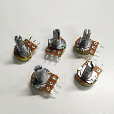 5x 0.5W 15MM 10K ohm Switch Linear Taper Rotary Potentiometer Panel pot B10K New