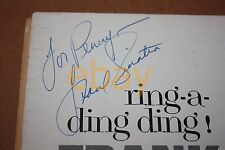 """FRANK SINATRA SIGNED """"Ring-a-Ding-Ding!"""" LP JACKET Autograph WOW! RARE!"""