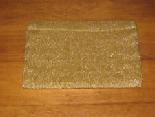 GOLD LAME LINED ZIPPER TOP CLUTCH PURSE