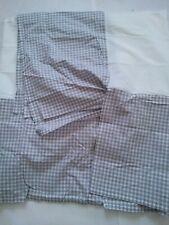 Threshold - Target Plaid Gray / White King Bedskirt 15 inch drop