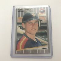 1989 Fleer Craig Biggio rookie card Lot Of Two