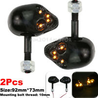2x Skull LED Turn Signal Blinkers For Yamaha Virago 250 500 535 700 750 920 1100