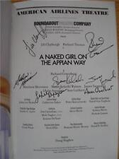 Matthew Morrison & Cast Signed Playbill A Naked Girl on the Appian Way Brand New