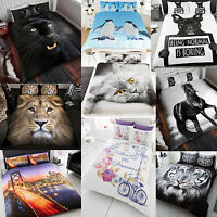 New Duvet Cover Bed Set 3D Animal Printed Quilt Bedding King Single Double Sizes