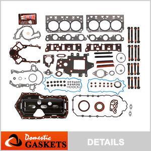 96-03 Buick Oldsmobile Pontiac 3.8L Supercharged Full Gasket Head Bolt Set VIN 1