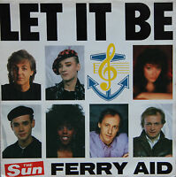 "Vinyle 45T Ferry Aid (McCartney, Kate Bush, Boy George....)  ""Let it be"""