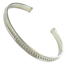 Rochet Roma Cable Elegant Rope Design Stainless Steel Bangle Cuff Bracelet