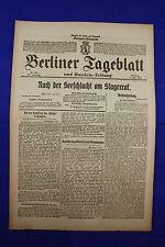 BERLINER TAGEBLATT (4.6.1916): Nach der Seeschlacht am Skagerrak