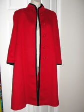 VTG PIN UP VAMP RED WOOL coat jacket 50'S 60'S PRISTINE SMALL QUALITY Swing