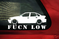 fukn low sticker - for Vauxhall vectra B saloon 2.5 V6 / 16v turbo lowered