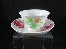 Gaudy Dutch Welsh Handleless cup and Saucer Daisy flower mark