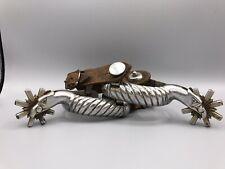 Antique Mexican Silver EAGLE Spurs *Heavy*
