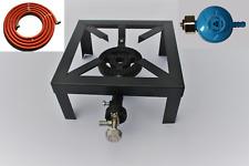 Gasbrander 25 x 25 cm 3.9 KW inclusief slang en drukregelaar / camping gasstel