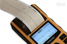 CONTEC ECG80A HANDHELD ECG MONITOR WITH PRINTER , REUSABLE ELECTRODS--USA SELLER