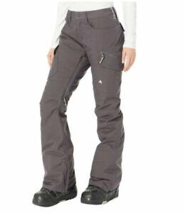$190 Burton Women's Gloria Snowboard Ski Pants Womens XS Gray AB361 NEW
