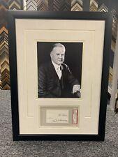 Herbert Hoover Signed Cut Custom Framed Psa Dna President Auto